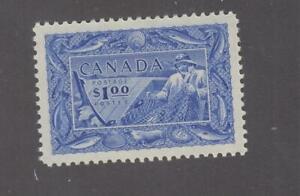 CANADA # 302 VF-MNH $1 FISHERMEN CAT VALUE $60 (FISHY)