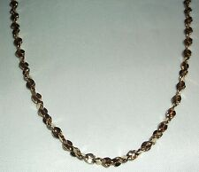 "23"" Diamond Cut  14k Gold Bonded Chain, Very Unique Check Picture, #A8"