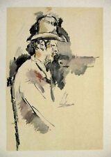 Paul Cezanne Aquarelle Etude Pour Un Joueur De Carte Limited Jacomet 1971