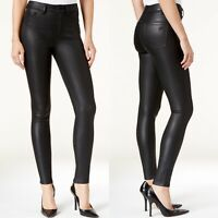 DL1961 Women's Jessica Alba No.1 Trimtone Skinny Chasm Coated Black Jeans 28