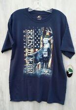 NEW Mossy Oak Mens Large All American Graphic Buck Hunter Classic T-shirt