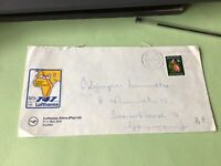 South Africa Durban Lufthansa label  stamps cover ref 50506