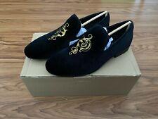 NIB Zara Men's Suede Moccasin Loafers Black Size 8