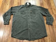 Mens Xl - Carhartt Cotton Long Sleeve Work Shirt