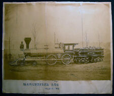 1867 LARGE FORMAT LOCOMOTIVE MANCHESTER NEW HAMPSHIRE A.M. RAMSDELL VERMONT RR