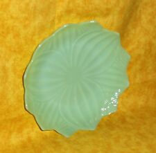 "Perfect Condition 8"" Green Milk Glass Jadeite Serving Plate,Dish,Depression Era,"