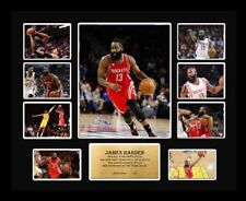 New James Harden Signed Houston Rockets Limited Edition Memorabilia Framed