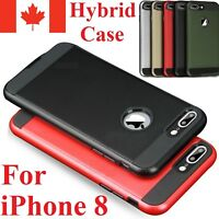 For iPhone 8 / Plus Case - Dual Layer Hybrid Shockproof Hard Back Cover