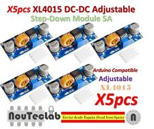 5pcs 5A XL4015 DC-DC Step Down Adjustable Power Supply LED Lithium Charger