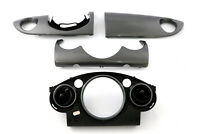 BMW Mini Cooper 1 R50 R53 Set Dashboard Panel Trim Strip Cover Anthracite Silver