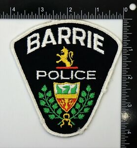 BARRIE CANADA POLICE PATCH (White Edge) Vintage Original