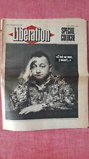 Ancien journal Libération N°1582 Juin 1986 | Décès de Coluche