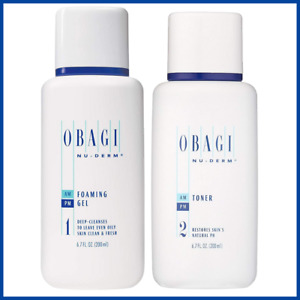 Obagi Medical Foaming Gel Cleanser + Face Toner 6.7 oz Bundle