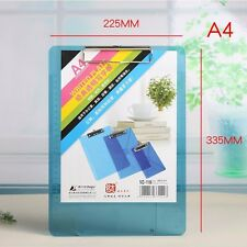 A4 Plastic Document File Clipboard Metal Clip Thick Paper Writing Hard Pad #UK