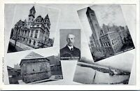1907 Pittsburgh PA Collage Post Office Postmaster Courthouse Postcard Drefus