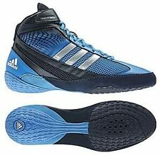 Adidas Response 3 Wrestling Shoes Boxing Boots Combat Sport Shoes Blue Used VGD