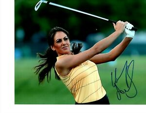 GOLF REPORTER HOLLY SONDERS SIGNED IRON SHOT 8X10