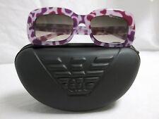 Emporio Armani EA 9850 Purple Brown Leopard Gradient New Womens Sunglasses