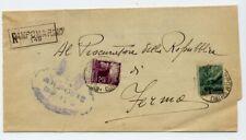 1948 - affrancatura democratica lire 1+20 - fermo - campomarino