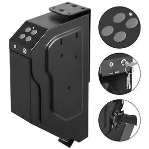 Handgun Safe Box Vault Combination Lock Gun Security Premium with Keys Portable