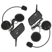 Bluetooth Motorcycle Helmet Intercom Interphone Headset BT Intercomunicador V6