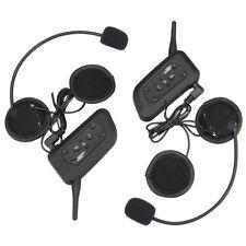 Bluetooth Motorcycle Helmet Intercom Interphone Headset BT Intercomunicador V6