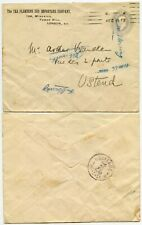 GB KE7 STATIONERY STO TEA PLANTERS + IMPORTERS 2 1/2d to BELGIUM 1912