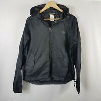 The North Face Mens Windbreaker Jacket M Medium Zip Through Stowaway Black