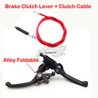 Red Brake Clutch Lever Cable For Dirt Pit Bike CRF50 XR50 110cc 125cc 150 160 cc