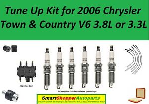 Tune Up Kit For 2006 Chrysler Town & Country V6 Ignition Coil, Spark Plug, Wire