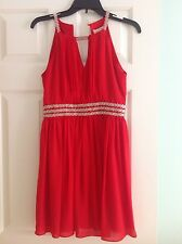 Girls junior holiday homecoming cocktail red dress size small