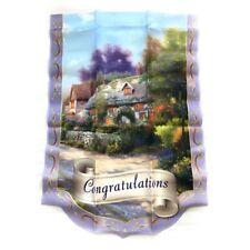 Thomas Kinkade Year of Glad Tidings Flag Collection Congratulations Coa