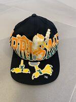 Vintage Miami Hurricanes Snapback Cap Hat 90's Throwback COD University Black