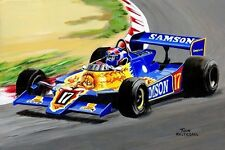 Painting Samson Shadow Ford Cosworth DN9 #17 Jan Lammers 1979 by Toon Nagtegaal