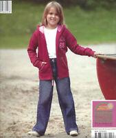 hochwertige Kinder Jeans-Hose 100% Baumwolle blau  Mädchen mit Gummizug Öko Tex