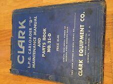 CLARK FORKLIFT CLARKLIFT D CARLOADER PARTS  CATALOG BOOK YARDLIFT MAINTENANCE
