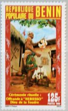 BENIN 1988 475 655 Ritual Offering to Hebiesso God of Thunder & Lightning MNH