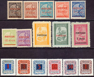 1949-52 MACAO Mi 44-59 PORTO POSTAGE DUE three sets MNH(mostly) or MNG