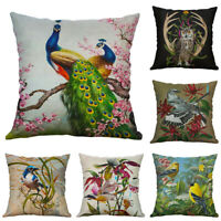 18''  Printing Pillow Case Pillow Peacock Animal Cushion Cover Sofa Home Decor
