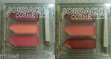 Set of 2 Jordache Palette of 3 Cream Lipgloss w/lip brush NEW Free S&H