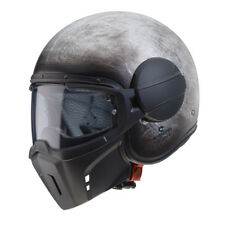 CASCO JET VINTAGE CABERG GHOST IRON + MASK TAGLIA XL