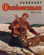 Whitetail Deer Hunting Magazine Poster Art Print Antlers Sheds Bow Arrow MAG23