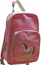 HORSE BACKPACK RUCKSACK SCHOOL BAG PINK BY PONY MALONEY
