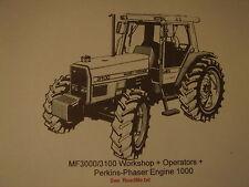 MF3000 / 3100 Operators + Workshop + Perkins 1000 on CD