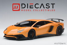 AUTOART 74557 LAMBORGHINI AVENTADOR LP750-4 SV METALLIC ORANGE 1:18TH SCALE
