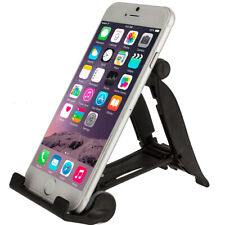 Black Plastic Hard Cell Phone Tablet Stand Mount Holder Universal