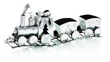 Decoración Navidad Plata Navidad tren adorno con carros nuevo