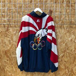 90s Vintage Starter USA US Olympic Team Jacket/Windbreaker - XL (XXL 2XL)