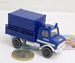 """Roco Miniatur Modelle 1649-1 Unimog  U 1300 L  mit Koffer  """"THW""""   (9240)"""