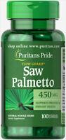 Puritan's Pride Saw Palmetto 450 mg - 100 Capsules (free shipping)